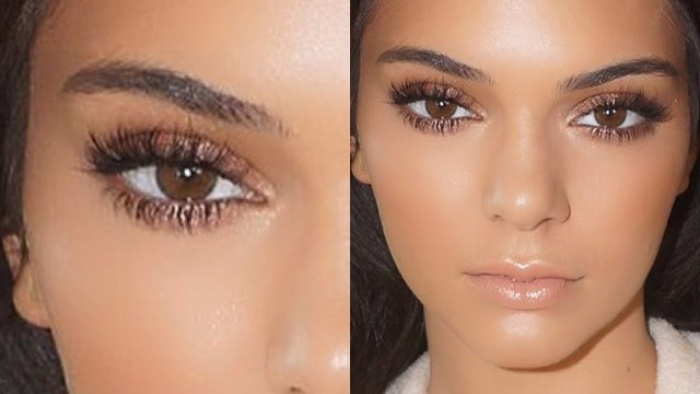 Natural Makeup For Brown Eyes Kendall Jenner Natural Glowing Makeup Tutorial 2015 Youtube