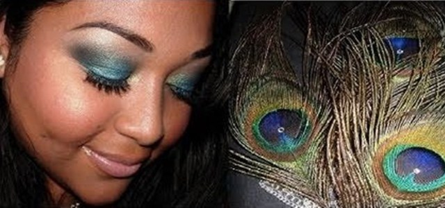 Peacock Inspired Eye Makeup How To Create A Teal Blue Peacock Inspired Eye Makeup Look Makeup
