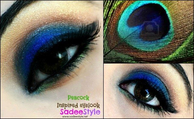 Peacock Inspired Eye Makeup Peacock Inspired Eye Makeup Look Sadeestyle Beauty Fashion Blog