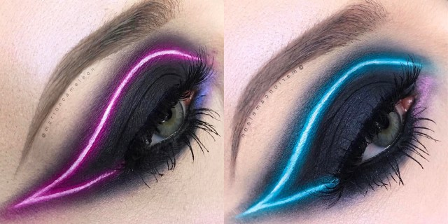 Pretty Light Eye Makeup You Need To Try The New Neon Light Makeup Trend