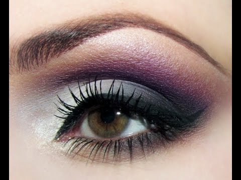 Romantic Eye Makeup How To Soft Smokey Purple Grey Eyeshadow Romantic Tutorial Youtube