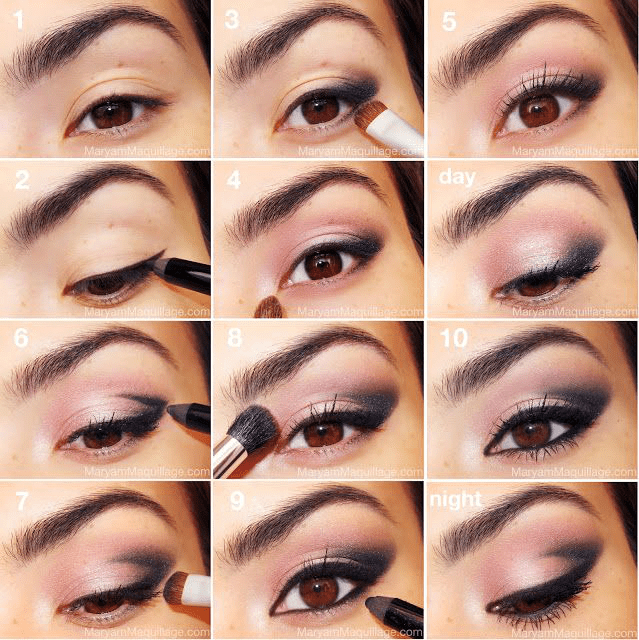 Romantic Eye Makeup Romantic Day Night Black And Pink Eye Makeup Beautiful Shoes