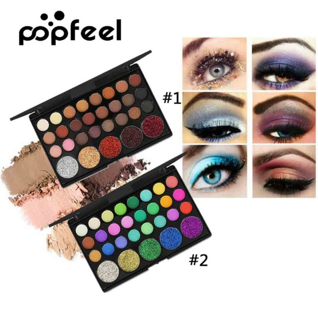 Shiny Eye Makeup 29 Colors Eyeshadow Palette Eyes Makeup Waterproof Cosmetics Shiny