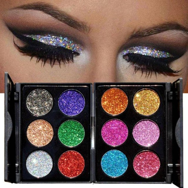 Shiny Eye Makeup Diamond Golden Color Powder Glitter Eye Shadow Palette Shiny