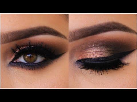 Simple But Cute Eye Makeup Bronze Smokey Cat Eye Tutorial Youtube