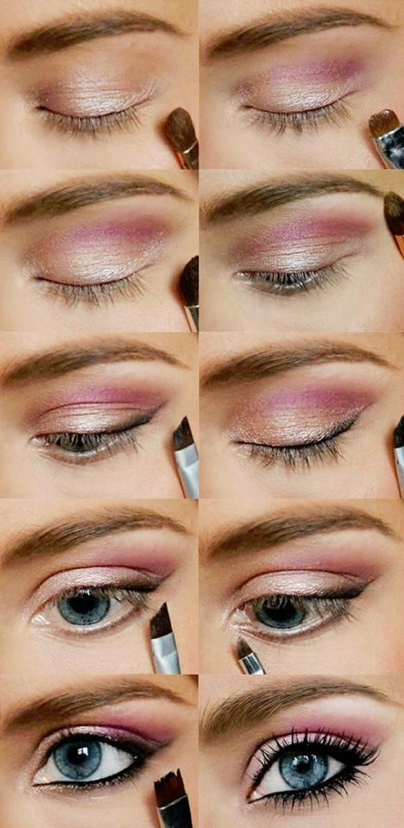Simple Pink Eye Makeup 20 Easy Step Step Eyeshadow Tutorials For Beginners Her Style Code