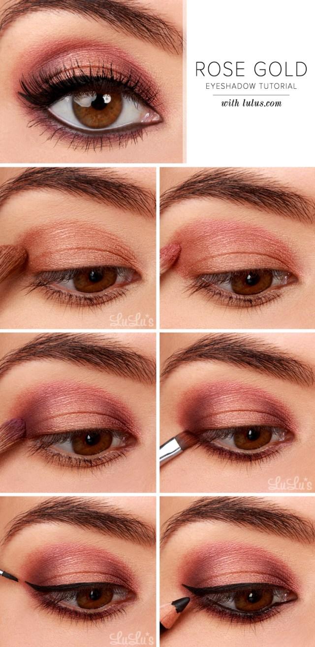 Simple Pink Eye Makeup Lulus How To Rose Gold Eyeshadow Tutorial Lulus Fashion Blog