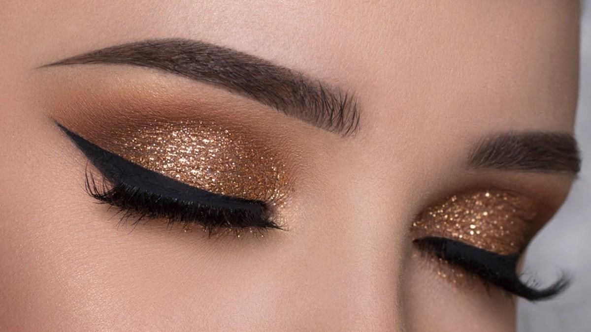 Smokey Eye Makeup Pictures Easy Copper Glitter Smokey Eye Makeup Tutorial Youtube