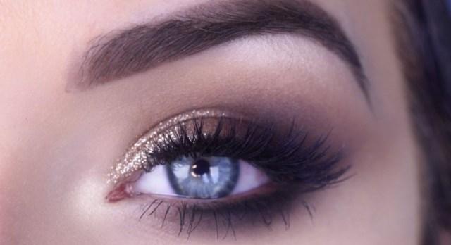 Smokey Eye Prom Makeup Easy Prom Eye Makeup Tutorial Bronze Glitter Smokey Eye