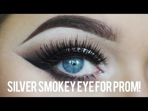 Smokey Eye Prom Makeup Prom Make Up Tutorial Silver Smokey Eye Rachel Leary Youtube
