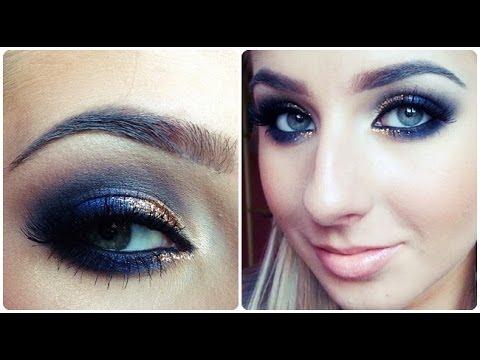 Smokey Eye Prom Makeup Prom Makeup Tutorial Quick Navy Blue Smokey Eye