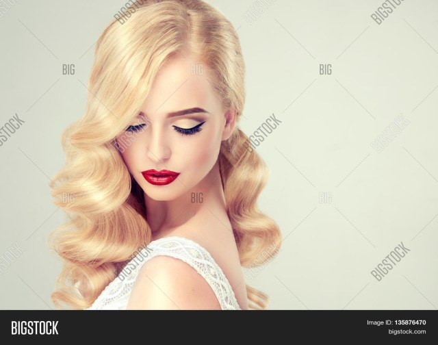Wedding Makeup For Blonde Hair Blue Eyes Beautiful Blonde Girl Image Photo Free Trial Bigstock