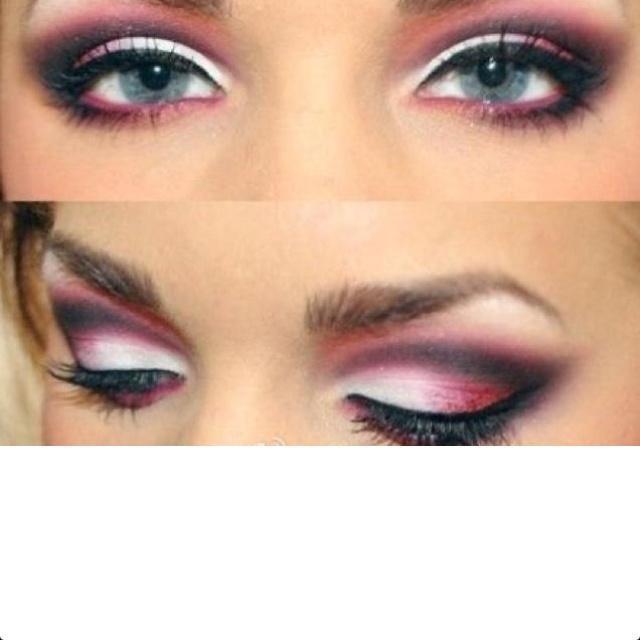 White And Pink Eye Makeup White And Pink Eye Makeup Eye Makeup