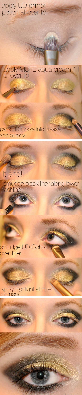 Yellow And Black Eye Makeup 35 Glitter Eye Makeup Tutorials The Goddess