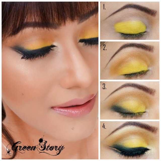 Yellow And Black Eye Makeup Yellow With Black Eyelook Greenstory