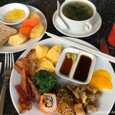An Asian-style breakfast from the Century Park Hotel buffet