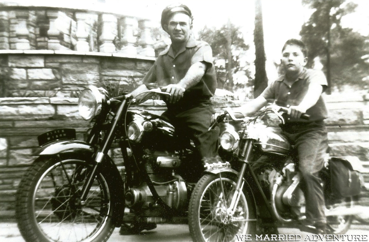 Scott and Bob on Motorcycles