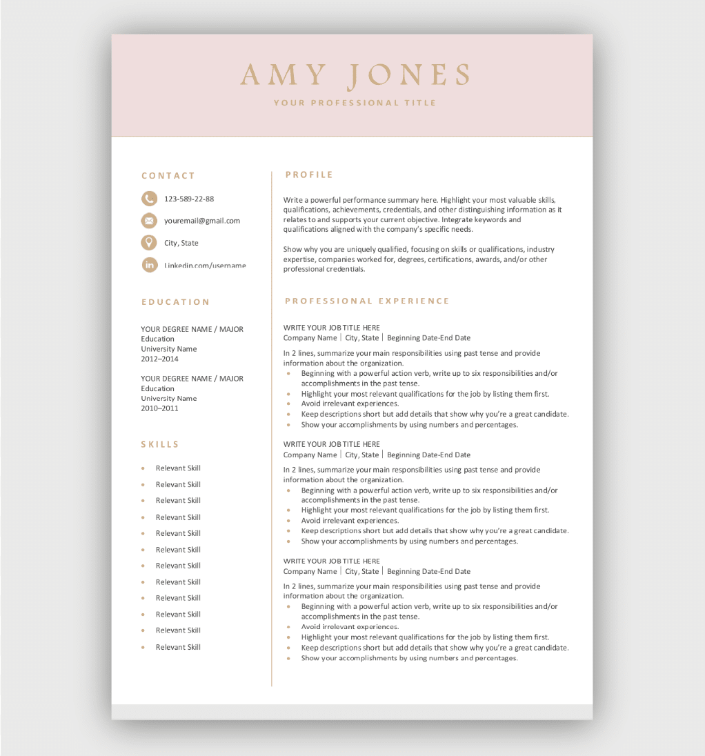 Quality and proven resume templates with clean and modern designs. Free Resume Templates For Microsoft Word Download Now