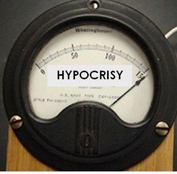 Hypocrisy meter