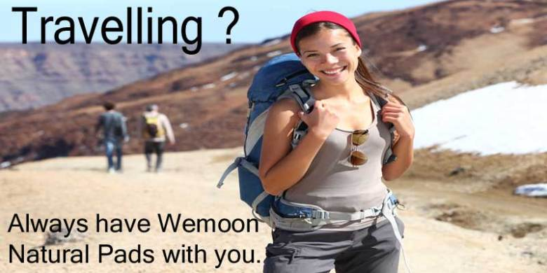 Wemoon Natural Pads are a must for travelling