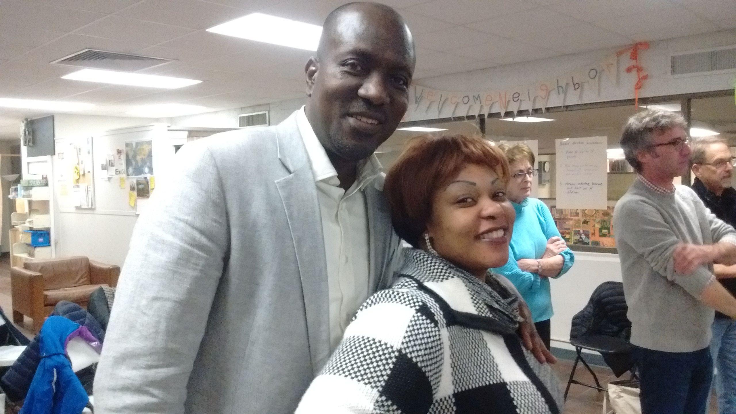 New board member, Christian Bisimwa, and wife Pasqualine.