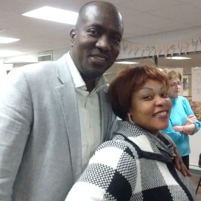 New board member, Christian Bisimwa, and wife Pasqualine.
