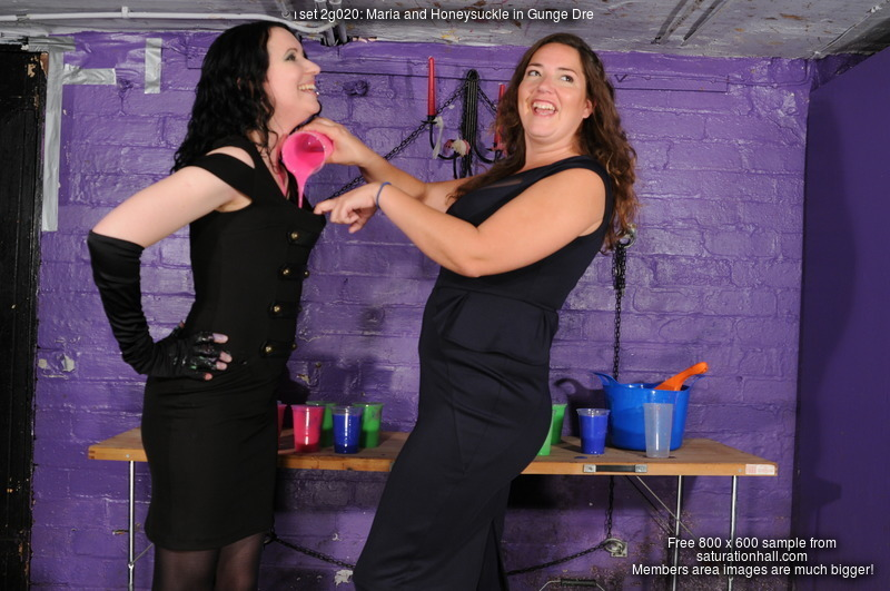 Maria and Honeysuckle in Gunge Dresses  Clothesfilling