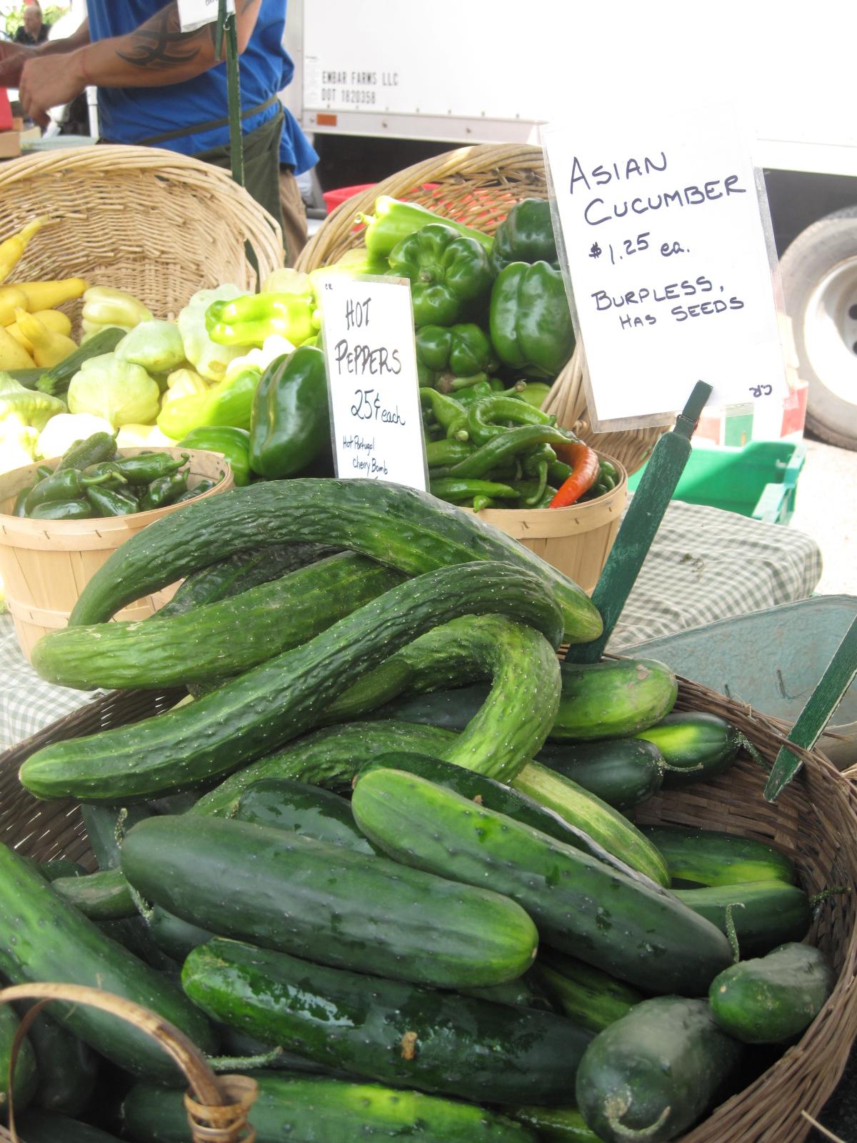 Cucumbers, regular and English