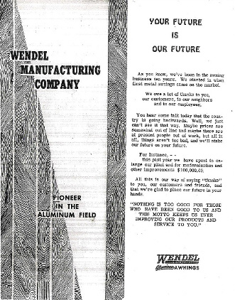 The Wendel Awning Company