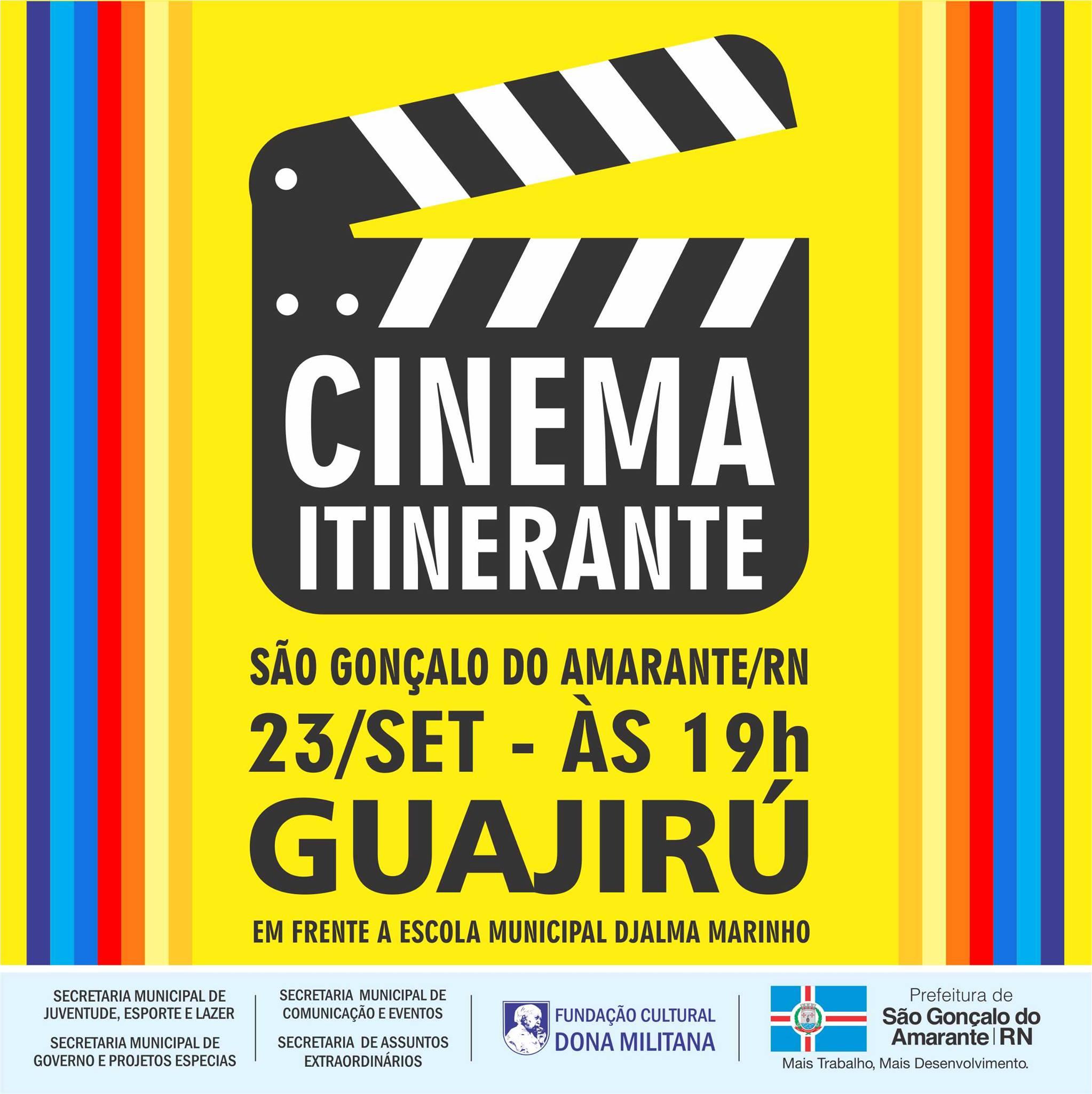 """Projeto """"Cinema Itinerante"""" leva lazer e diversão para o Guajirú"""