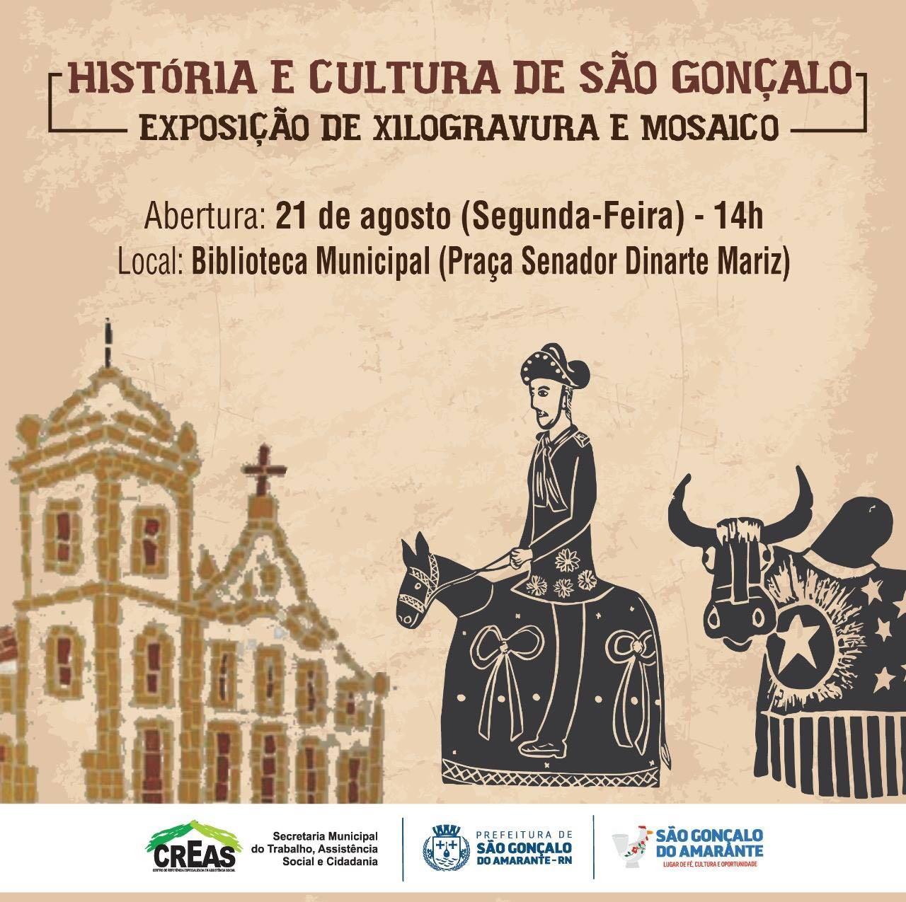 Exposição de Xilogravura e Mosaico movimenta São Gonçalo nesta segunda feira