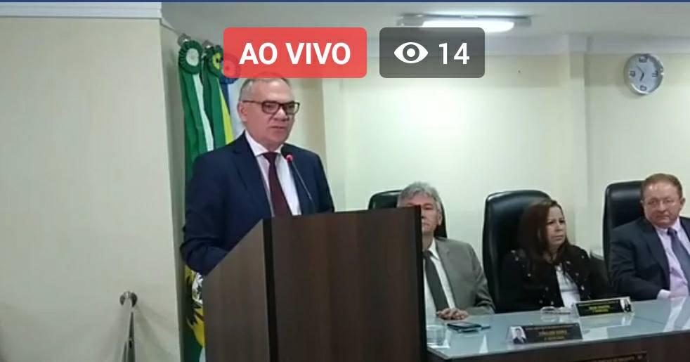 AO VIVO – Sessão Solene na Câmara de Vereadores e leitura anual do Prefeito Paulinho Emídio
