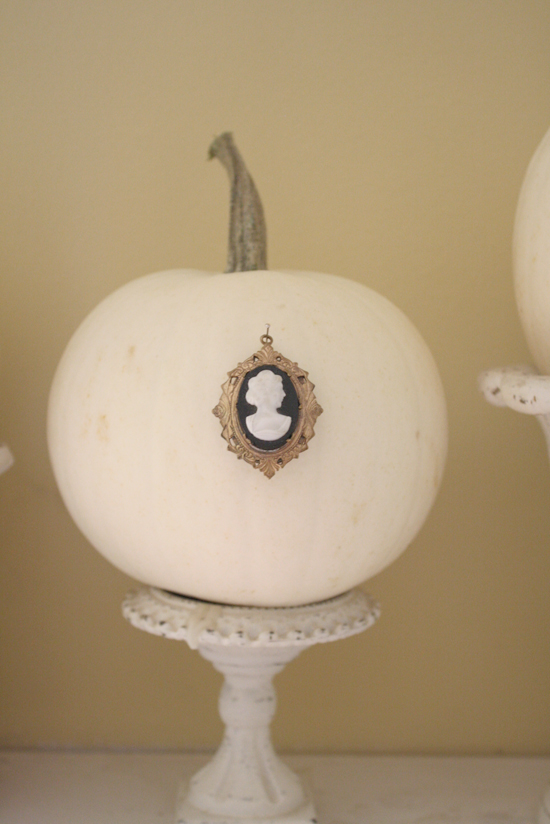 Halloween Decorations Cameo Pumpkins