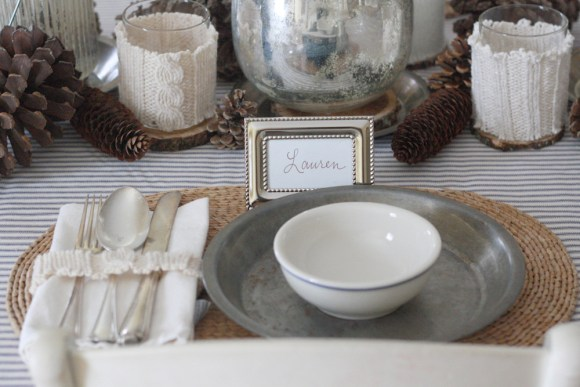 Winter Table Place Settings