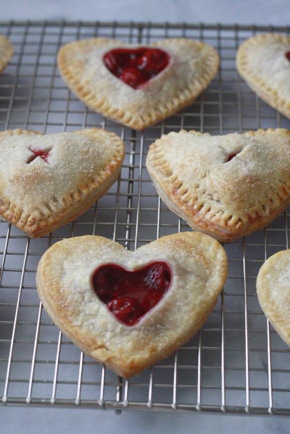 Cherry Heart Hand Pies