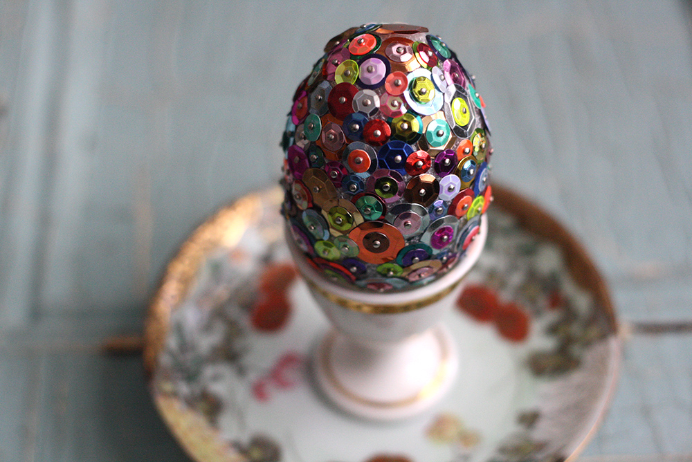 Sequined Easter Eggs Tutorial