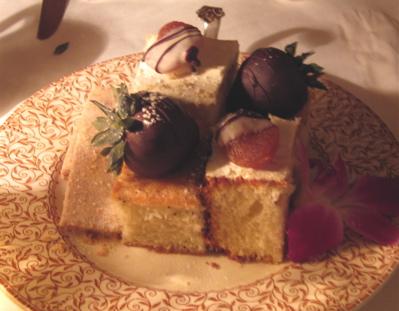 Dessert plate completes full afternoon tea at The Tea Room