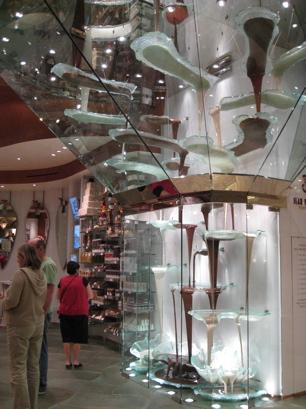 Triple Chocolate Fountain in the Bellagio Hotel, Las Vegas