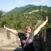 Sight seeing at the Great Wall of China