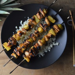Teriyaki Chicken & Pineapple Skewers