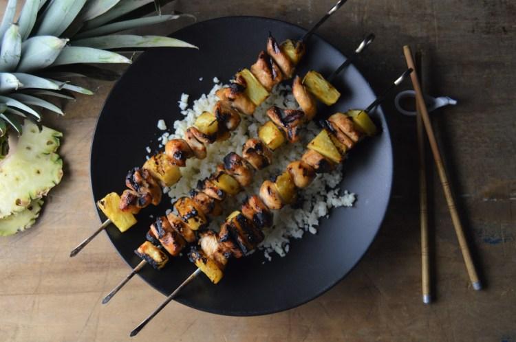 Teriyaki Chicken & Pineapple Skewers