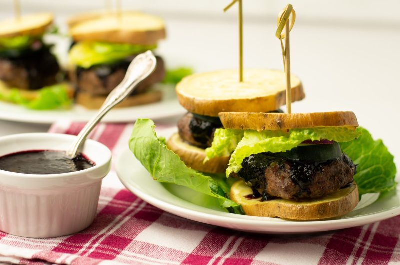 Blueberry BBQ Bison Burgers (AIP/Paleo)
