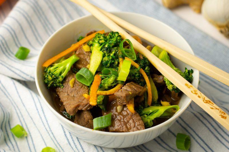 Orange Peel Beef and Broccoli