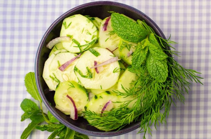 Bright Cucumber Salad (AIP/Paleo)