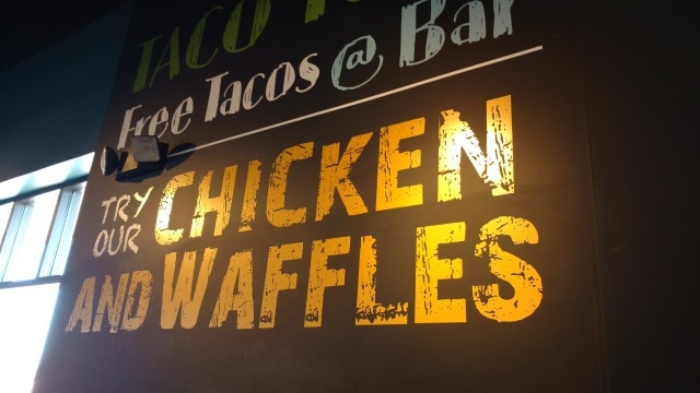 Chicken and Waffles sign
