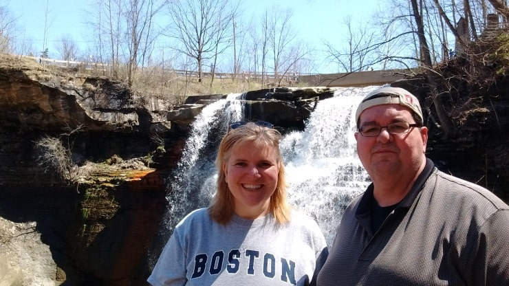 At the falls with Bobby.