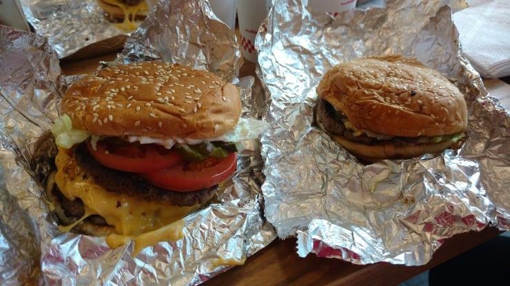 Wendi's and Randi's burgers