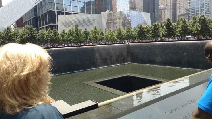 Wendi at North Tower reflecting pool