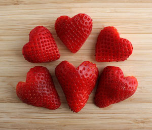 Image result for heart shaped strawberries