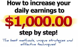 learn how to make 1000 per day